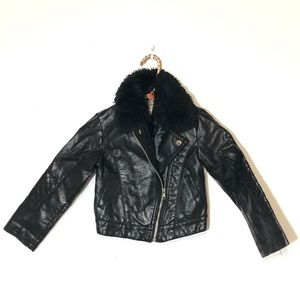 H&M Girl's Faux Leather Jacket Size 4-5Y
